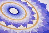 Abstract purple painted picture mandala of Sahasrara chakra — Stock Photo