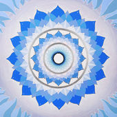 Abstract blue mandala of Vishuddha chakra — Stock Photo