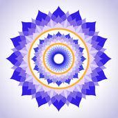 Abstract painted picture mandala of Sahasrara chakra — Stock Vector