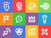 Creative icons vector set — Stock Vector