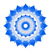 Abstract blue mandala of Vishuddha chakra vector — Stock Vector