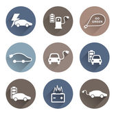Electric cars icons vector — Stock Vector