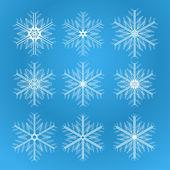 Icon set of snowflakes — Stock Vector