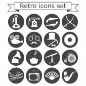 Retro icons set — Stock Vector