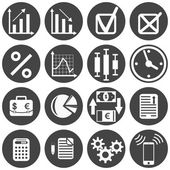 Investor icon set — Stock Vector