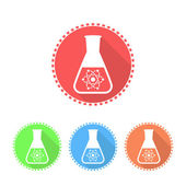 Simple icons of conical flask — Stock Vector