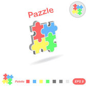 Puzzle logo conception — Stock Vector