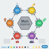 Infographics in chemical style — Stok Vektör