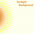 Colorful sunlight background, round sunbeams — Stock Vector #60105849