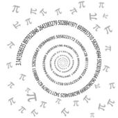 Pi swirl on white background — Stock Vector