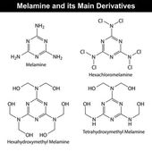 Melamine and its derivatives — Stock Vector