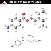 Molécula de novocaína - agente anestésico — Vector de stock