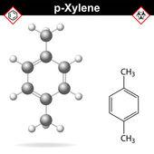 Xylene molecule, para-xylene isomer — Stock Vector