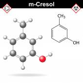 Cresol molecule, meta-cresol isomer — Stock Vector