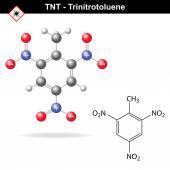 Trinitrotoluene - tnt explosive agent — Stock Vector