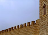 Castle tower and battlements — Stock Photo