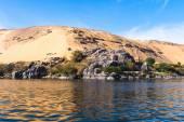 Charakter rzeki Nilu w Egipcie — Zdjęcie stockowe