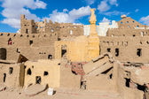 Clay model of the town of Bawiti in Bahariya Oasis in Egypt — Stock Photo