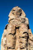 Colossus of Memnon, massive stone statue of Pharaoh Amenhotep III, Luxor, Egypt — Stock Photo
