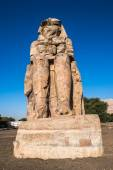 Colossus of Memnon, massive stone statue of Pharaoh Amenhotep III, Luxor, Egypt — Foto Stock