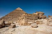 Giza Necropolis, Giza Plateau, Egypt. UNESCO World Heritage — Stock Photo