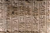 египетские иероглифы на стене в храме — Стоковое фото
