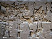 Egyptian hieroglyphs on the wall of the Horus temple in Egypt — Φωτογραφία Αρχείου