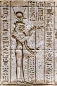 Ägyptische Hieroglyphen an der Wand in den Sobek-Tempel in Kom Ombo, Ägypten — Stockfoto