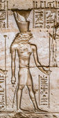 Egyptian hieroglyphs on the wall in the Sobek temple in Kom Ombo, Egypt — Photo