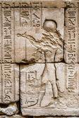 Hiéroglyphes sur le mur dans le temple de Sobek à Kom Ombo, Egypte — Photo