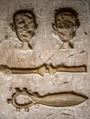Egyptiska hieroglyfer på väggen i Sobek templet i Kom Ombo, Egypten — Stockfoto