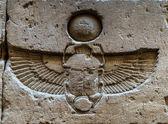 Geroglifici egiziani sulla parete del Tempio di Sobek di Kom Ombo, Egitto — Foto Stock