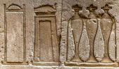 Egyptian hieroglyphs on the wall in the Sobek temple in Kom Ombo, Egypt — Zdjęcie stockowe