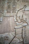 Hieróglifos egípcios na parede no templo de Sobek em Kom Ombo, Egito — Fotografia Stock