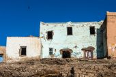 Old abandoned houses near in Egypt — Stock Photo