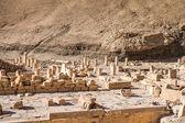 Teil des Tempels Totentempel der Hatschepsut, westlichen Ufer des Nils — Stockfoto