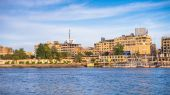 Aswan city in Egypt — Stock Photo