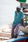 Real people in Gambia, Africa — Stock Photo