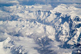 Beautiful panorama of the Swiss Alpine mountians — Stock Photo