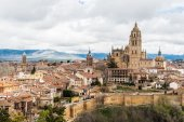 Architecture of Segovia, Spain — Stock Photo
