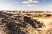 Moonlight landscape, Namibia, Africa — Stock Photo