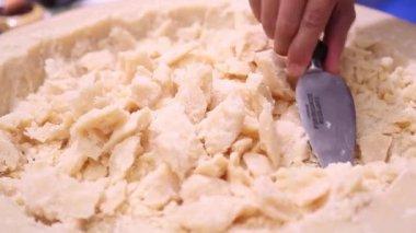Parmesan chopped — Stock Video