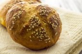 Home made bread with sesame — Stock Photo