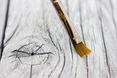 使用的旧画笔 — 图库照片