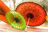 Birmania umbrellas — Stok fotoğraf