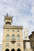 The Palazzo Pubblico of the City of San Marino — Stock Photo