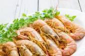 Raw prawns — Stock Photo