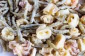 Mixed fried fish — Stock Photo