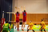 The game of volleyball — Stock Photo