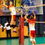 Постер, плакат: Competition volleyball teams